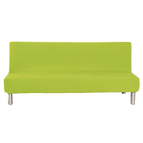 CENPENYA Funda Protectora para sofá Cama sin reposabrazos de poliéster y Elastano, elástica, Plegable, Protector para Futón Couch Bench (Verde,S)