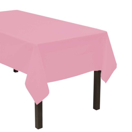 "Party Essentials Heavy Duty Plastic Table Cover Available in 44 Colors, 54"" x 108"", Pink"