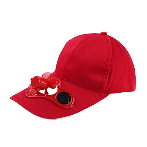 Vektenxi - Gorra de béisbol unisex para pesca al aire libre, con energía solar, ventilador fresco, sombrero de playa casual duradero y útil