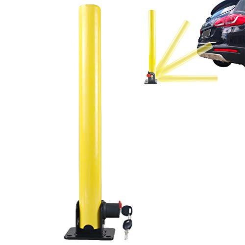 Oklead - Bloqueo de aparcamiento plegable, barrera de aparcamiento, poste plegable de...