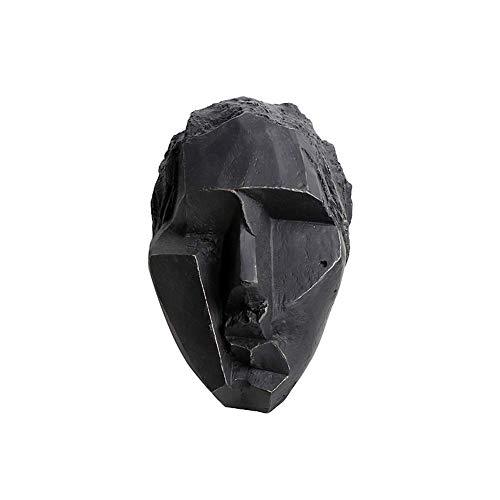IUYJVR Decoración de la Estatua del Arte, Tallado de la Cabeza del Personaje Artesanía de la colección de la Figura del Art déco del extracto del Vintage