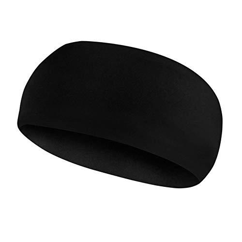 WEFH Bandas absorbentes para el Sudor Bandas atléticas para la Cabeza para Entrenamiento Deportivo, Ejercicio físico, Negro