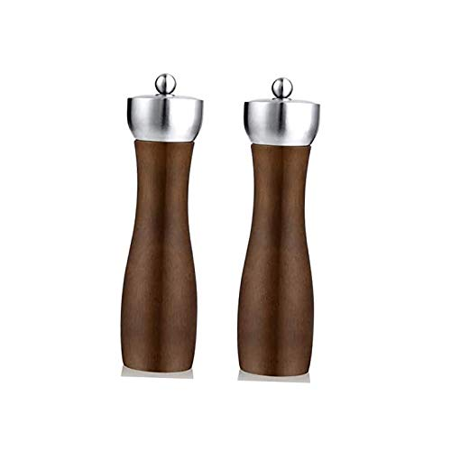 Exquisito Molinillo de Pimienta Molinillos de molino de sal y pimienta de acero inoxidable para platos de condimento: diseño clásico - mecanismos de molienda de cerámica (Size : Medium)