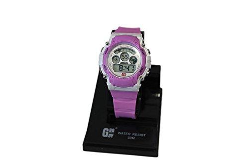 Acan Reloj Digital de Color Rosa y Blanco con Alarma