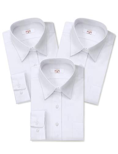 女子 長袖 学生用 Yシャツ スクールシャツ SunnyHug サニーハグ 透けにくい 胸ボタン間隔短め 形態安定 抗菌防臭 制服 標準体型A体用 カッターシャツ (購入後、サイズをメッセージして下さい)