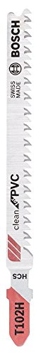 Bosch Professional Stichsägeblatt T 102 H Clean für PVC, 5-er Pack, 2608667446