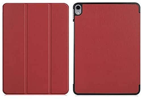Tab Accessories Print Pattern Folding Stand Case for IPad Pro 11' (2018) Smart Cover Funda for New IPad Pro 11 Inch 2018, Shell+Film+Pen (Color : Wine red)