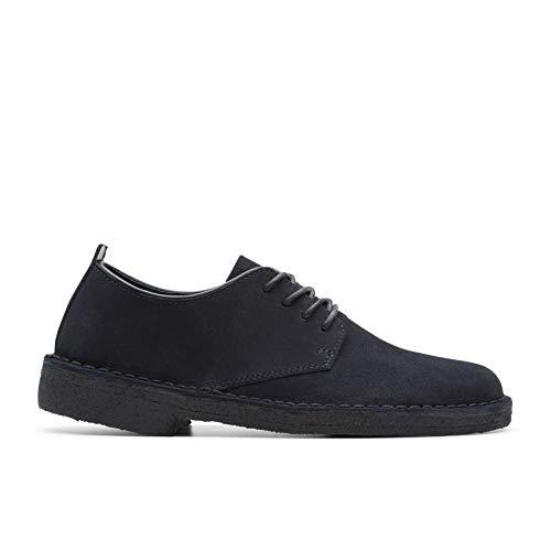 Clarks Desert London Womens Derby Shoe 36.5 EU Schwarzes Wildleder
