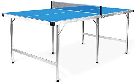 PRO SPIN Mid Size Ping Pong Table Foldable 100 Pre Assembled Table Tennis Table for Small Spaces product image