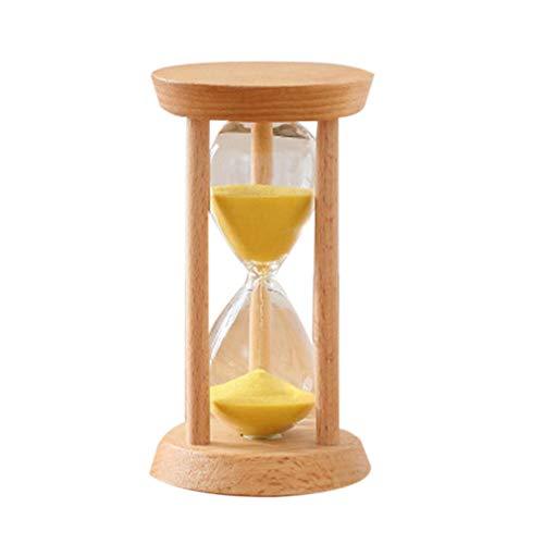 QWSNED Reloj de arena,Reloj de arena de madera,Temporizador de reloj de arena de arena amarilla,Decoración de escritorio de sala de estar,Reloj de arena de gestión