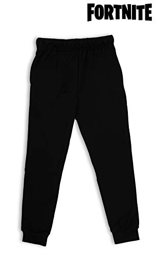 Fortnite Tracksuit Boys | Tracksuit Bottoms for Boys, Teenagers | Grey Or Black Jogging Bottom with Elastic Waist and Pockets | Sports Or Loungewear Trousers, Gift for Boys (11/12 Years, Black)