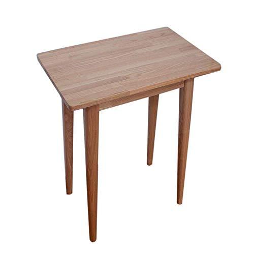 XBR Sofa Beistelltisch, Tische Quadratischer Massivholztisch, Milchtee Beistelltisch, Couchtisch Computertisch, Nachttisch, Montage Design für Wohnzimmer Farbe: Holz, Größe: 21.6513.7729.92in