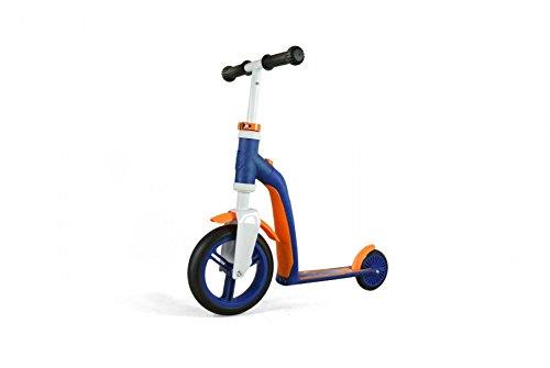 authentic sports & toys Kinder Scooter Laufrad Kombination Highwaybaby, Blau/Orange