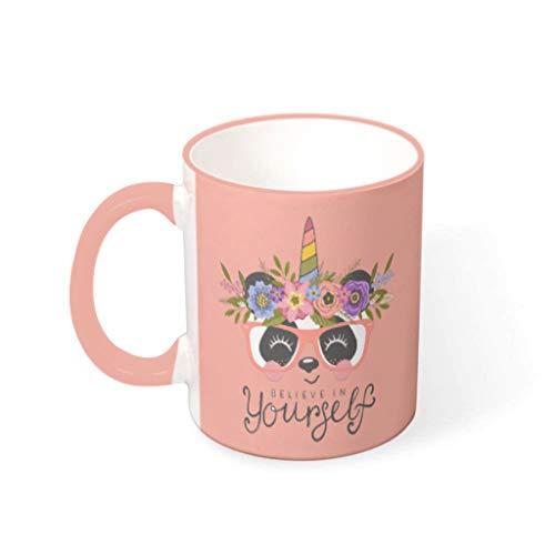 O2ECH-8 Cappuccino beker met handvat porselein fun beker - cartoon meisje heden heden heden pak voor kinderen te gebruiken