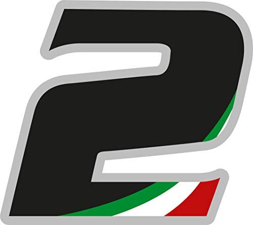 Sticker Adhesivo con el número de carreras de Italia, Rally Motocross, altura 5 cm