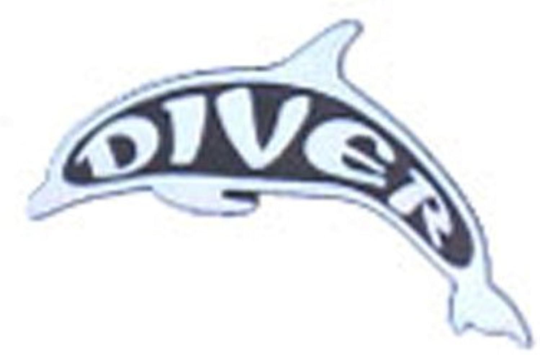 Trident Dolphin Diver Stick On Emblem