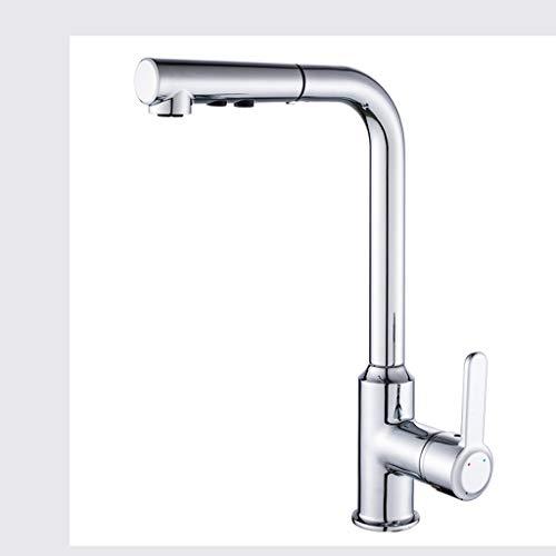 Faucet Grifo abatible núcleo de válvula de cerámica Salida de Nido de Abeja Cuerpo de válvula de latón electrochapado Multicapa Grifo de Agua fría y Caliente 2 Modos de Salida