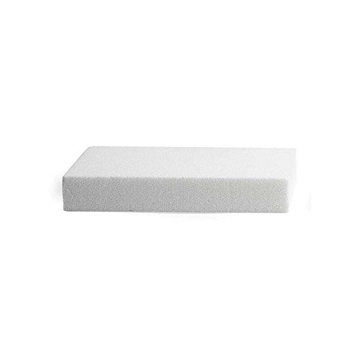 takestop® Set 3 Stück rechteckige Form 39,5 x 29 cm Höhe 8 cm aus Polystyrol für Kuchen, Cake Design DECUPAGE Dekoration Kuchen Party Küche