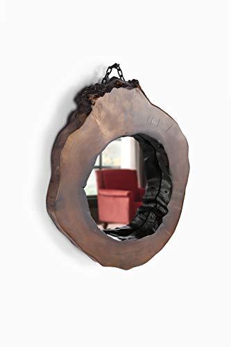 ZenXstore Mueble de pared con espejo de madera hecho a mano de la Selva del Mar Negro