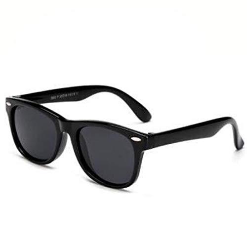Boolavard Flexible para niños Gafas de sol Polarizadas para bebés Recubrimiento de seguridad Gafas de sol Gafas UV400 (Negro)