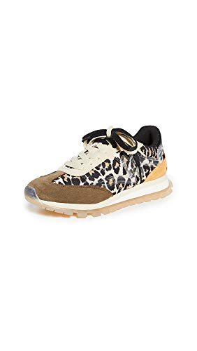 The Marc Jacobs Women's The Leopard Jogger Sneakers, Brown Multi, 6 Medium US