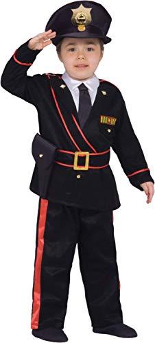 Ciao Maresciallo Carabiniere Costume Bambino (Taglia 4-6 Anni), Nero