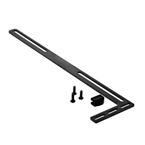 Soporte de Tarjeta gráfica Soporte de Aluminio en Forma de L Calentador de Tarjeta gráfica Negro 28cm