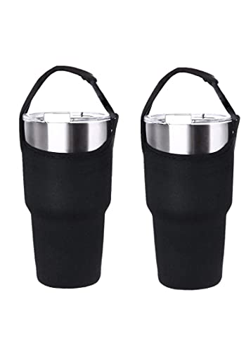 2-piece Tumbler Carrier Carrier Holder Pouch for All 30oz Stainless Steel Travel Insulated Coffee Cup