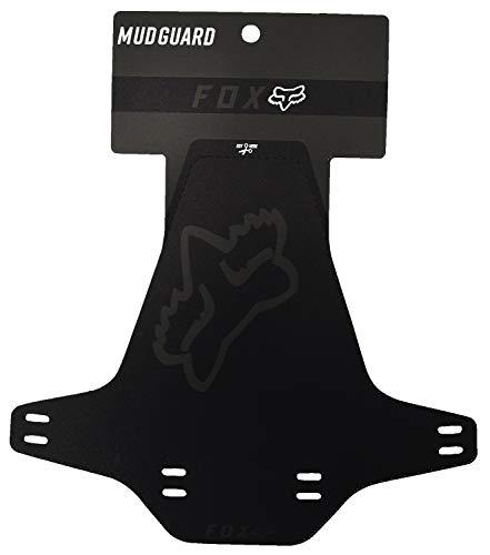 FOX Mud Guard Fahrrad Schutzblech (schwarz Logo) / Rückseite Schwarz mit weißem Logo