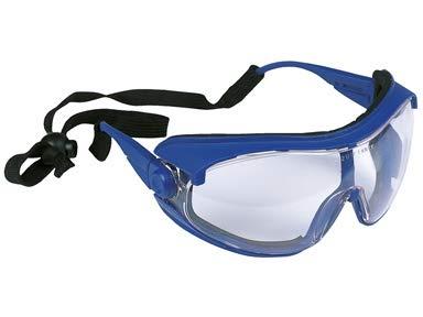 Gafas de protección con una lente esférica resistente a los rayos UV – Aptas para uso continuo en laboratorios y farmacias.