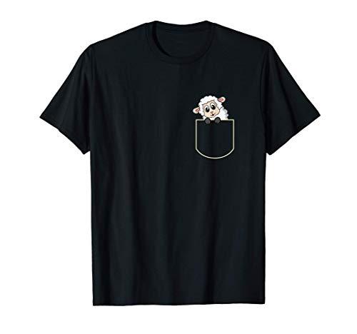 Funny Sheep In The Pocket Gift Lamb Pocket T-Shirt