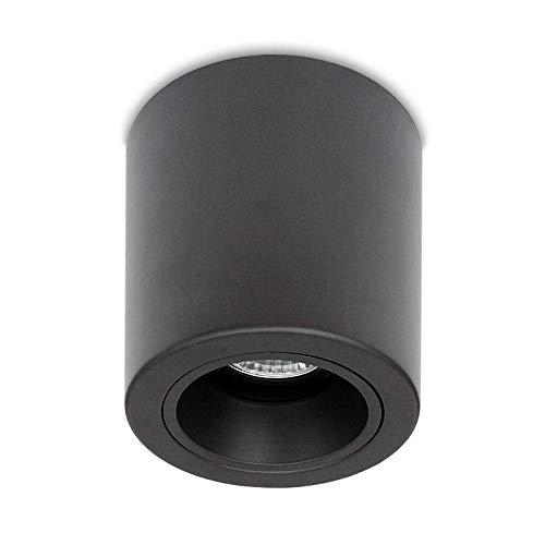 LED Deckenleuchte Aufbauleuchte Aluminium ROLLER BIG GU10 Schwarz IP20 Aufbauspot Downlight (Big Roller Schwarz)