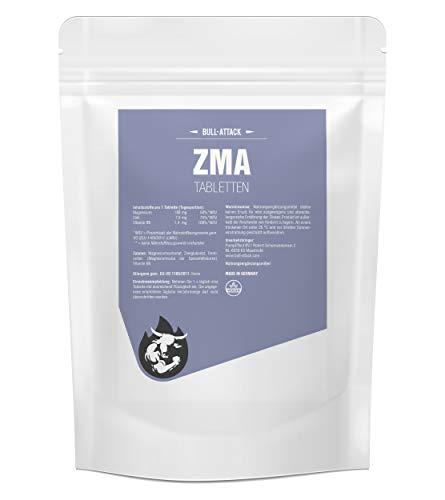 ZMA Tabletten von Bull Attack | 500 vegane Tabletten | Hochdosiert | Zink + Magnesium + Vitamin B6 | Unterstützt Muskelaufbau und Muskelfunktion | Premium Qualität hergestellt in Deutschland… (500)
