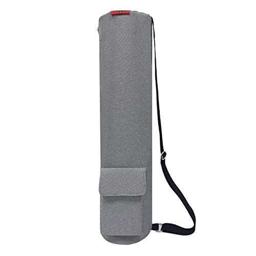YOTIMO Yoga Mat Bag,Full Zip Exercise Yoga Mat Sling Bag with Multi-Functional Storage Pockets (Light Grey)