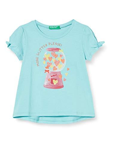 UNITED COLORS OF BENETTON T- Shirt Pull sans Manche, Turquoise (Aqua Splash 0z8), 86/92 (Taille Fabricant: 2Y) Bébé Fille