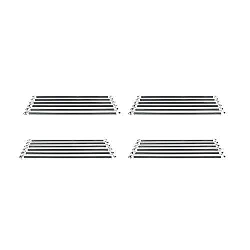QOHFLD Accessori per Stampante 6 Pezzi/Set manipolatore Parallelo Kit Asta in Carbonio fisheye Adatto per Viti Accessori per Parti Stampante 3D Kossel Delta (Colore: M3 20CM) (Color : M3 20cm)