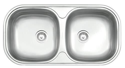 Tramontina 94032107 Cuba de Embutir ou Sobrepor Isios em Aço Inox Acetinado, 78X40 cm, Prata