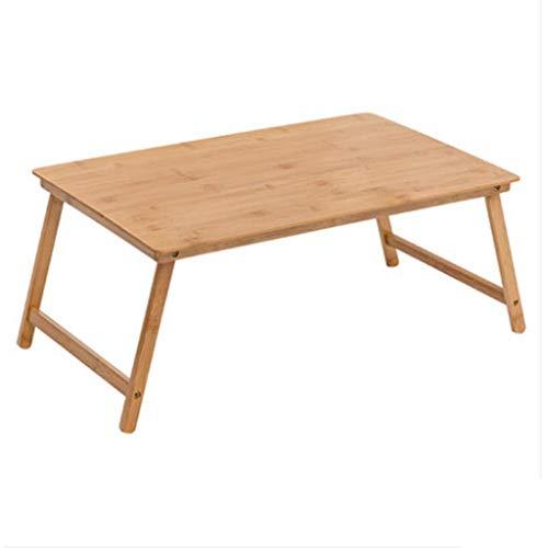 HCYTPL Inklapbare bijzettafel, computertafel, bed, bureau, klaptafel, slaapzaal, notebooktafel, vierkant