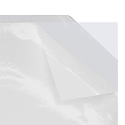 Doppelseitige Klebefolie DIN A4 oder DIN A5 | beidseitig klebende PET-Folie | transparent | für Bastel- und Büroarbeiten | leistungsstarker Klebstoff/DIN A5, 1 Stück