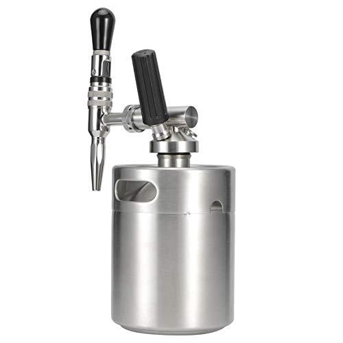 Fybida Máquina de café de nitrógeno Nitro Cafetera Nitro Cold Brew Cafetera Barril de café Nitro Cold Brew para Picnic BBQ(2L)