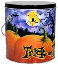 Market Square Popcorn 1 Gallon Gourmet Popcorn in Trick or Treat Reusable Tin - Makes a Great Gift or Office Snack - Choose from 12 Different Flavors (White Chocolate Cherry)