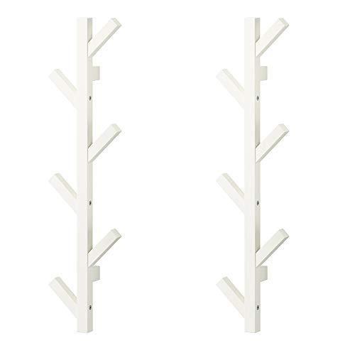 Ikea TJUSIG - Percha (2 unidades, 30 ¾ pulgadas, color blanco)