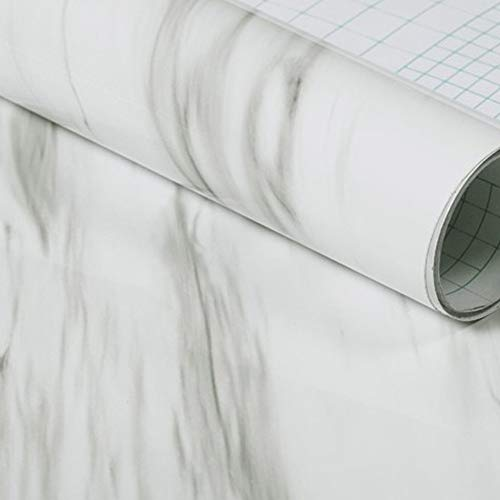 ZXJBM Granite Marble Adhesive Wallpaper Waterproof Thick Wall Stickers Contact Pape (Color : Gold)
