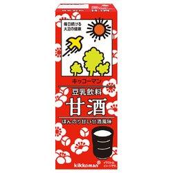 キッコーマン 豆乳飲料 甘酒 200ml紙パック×18本入×(2ケース)