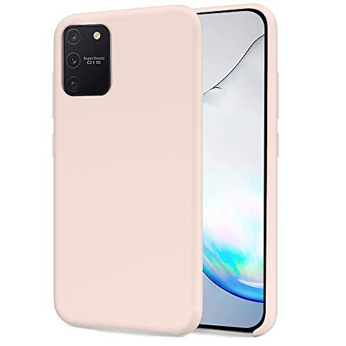 Oureidoo Samsung Galaxy S10 Lite/Galaxy A91 Hülle - Liquid Silikon Handyhülle für Samsung Galaxy S10 Lite/Galaxy A91 - Handy Hülle in Rosa