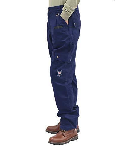 BOCOMAL FR Cargo Pants Flame Resistant Pants(2112&CAT2) 100% C 7.5oz Utility Fire Resistant Pants Navy
