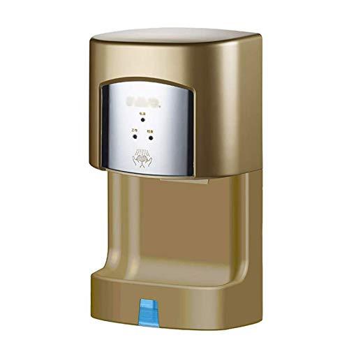 UKKD Handtrockner, 1350 W Edelstahl, elektrischer Handtrockner für Badezimmer, Gewerbe, Zuhause, Hochgeschwindigkeit, automatischer Handtrockner, hohe Effizienz (Farbe: A)