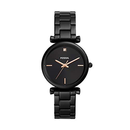Fossil Damen Analog Quarz Uhr mit Edelstahl Armband ES4442