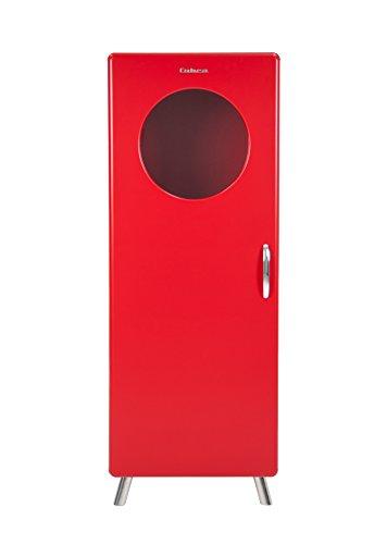TENZO Halbvitrine, Holz, 150 x 56 x 43 cm, rot