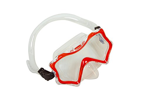 Schildkröt kinderduikbril Bora Bora, Junior, duikmasker, zwembril, hoogwaardige siliconen, veiligheidsglas, verstelbaar, voor kleine kinderhoofden, 940041